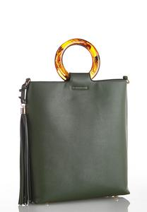 Lucite Handle Bucket Crossbody