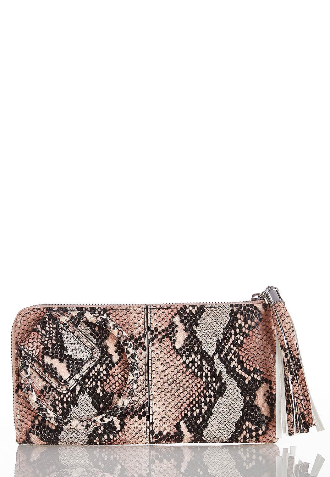 Snakeskin Wristlet Wallet