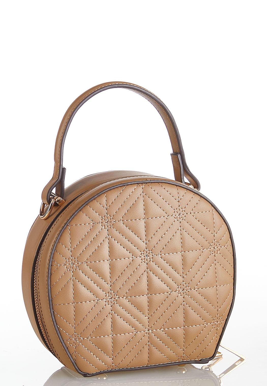 Quilted Structured Crossbody