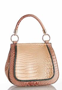 Multi Tone Croc Crossbody
