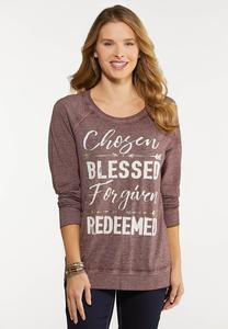 Plus Size Chosen Blessed Top
