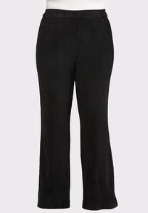 Plus Size Flare Leg Corduroy Pants