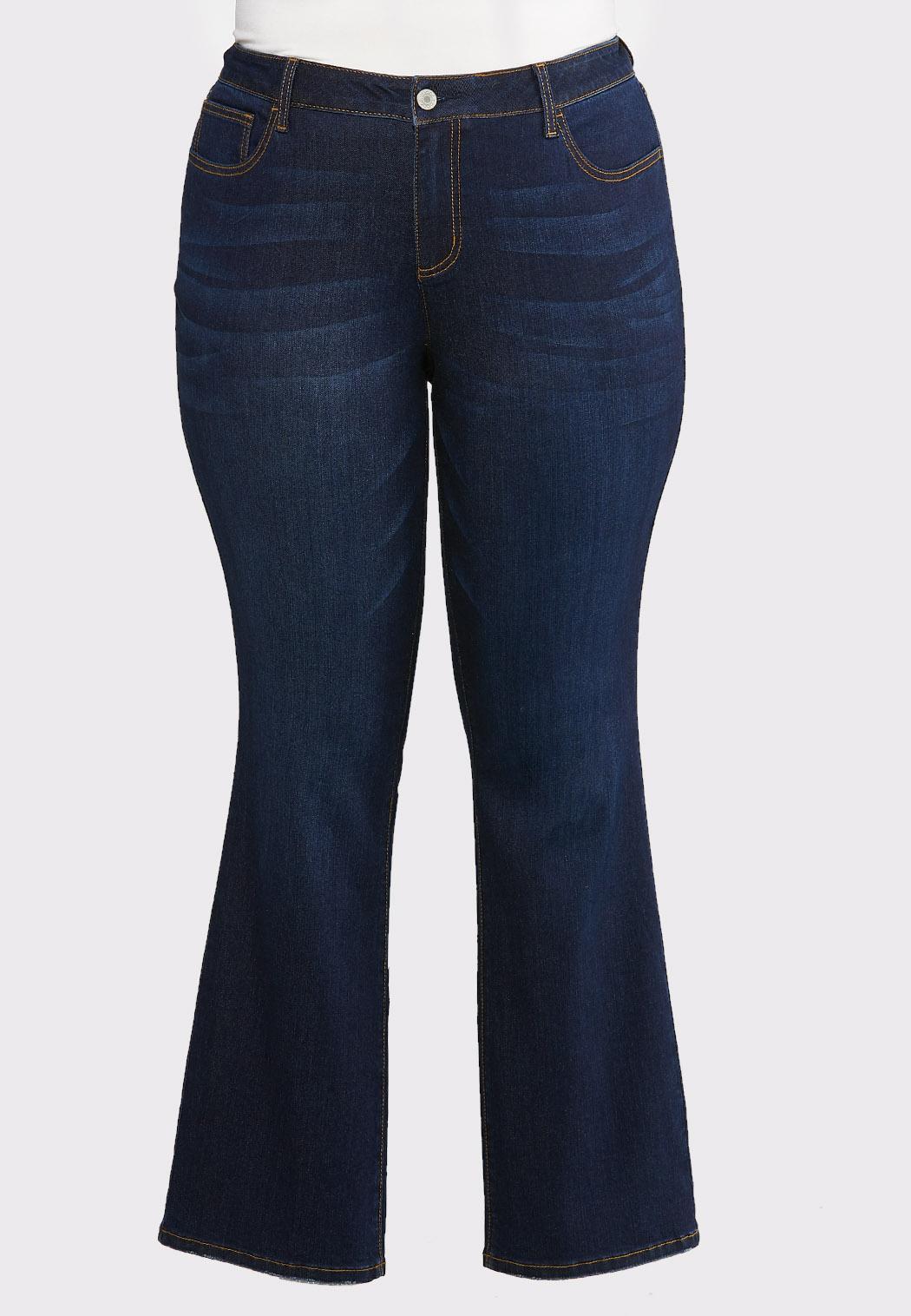 Plus Size Dark Wash Bootcut Jeans