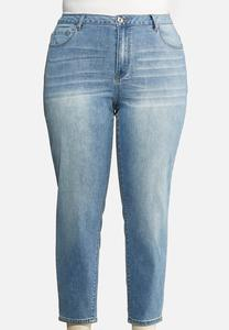 Plus Size High Rise Mom Jeans