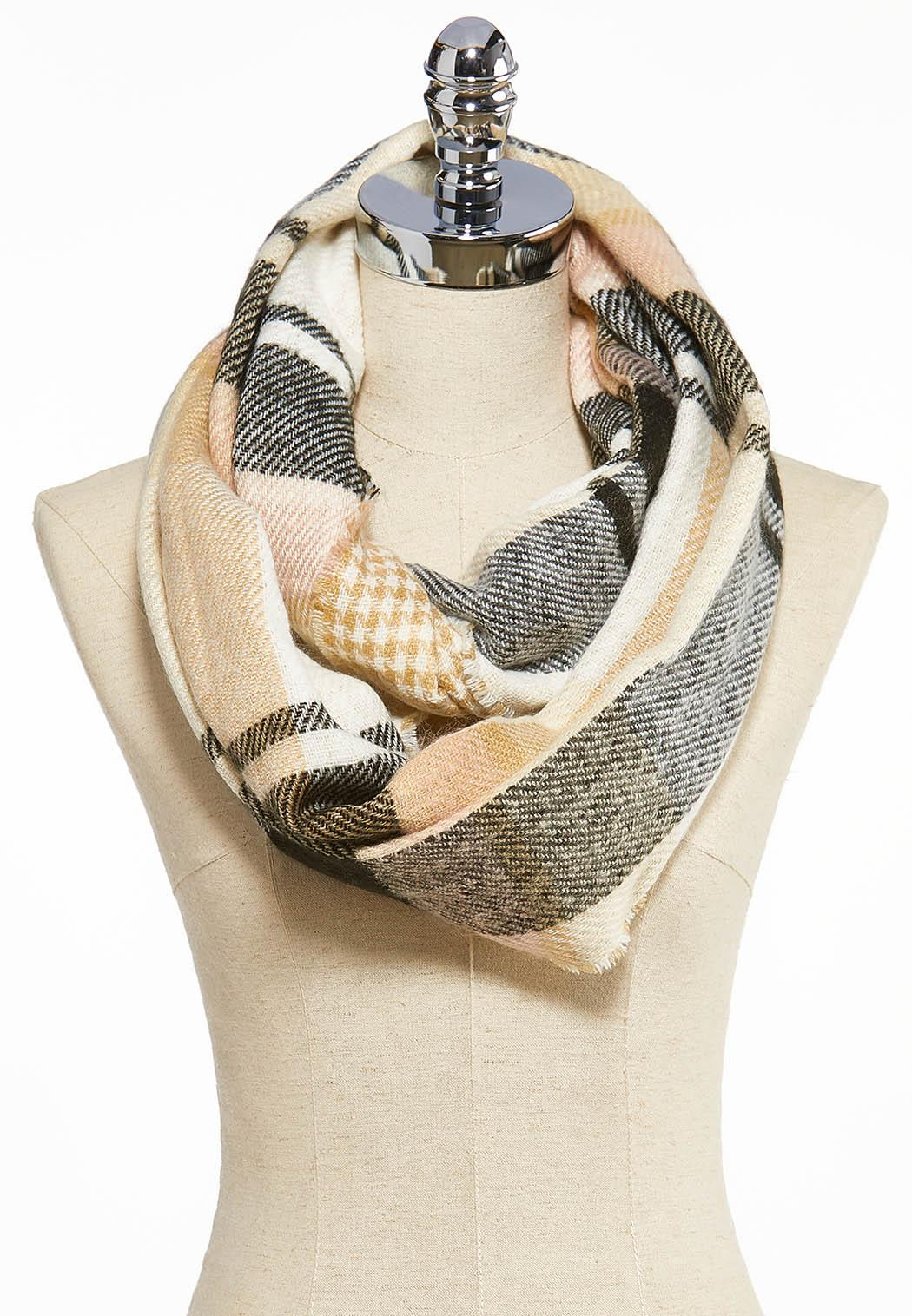 Plaid Cold Weather Infinity Scarf