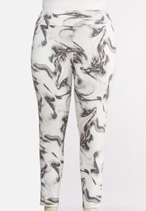 Plus Size Soft Marbled Leggings