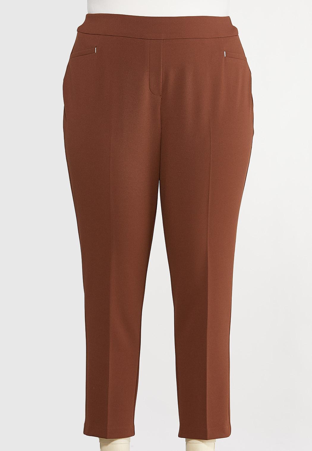 Plus Size Slim Ankle Pants