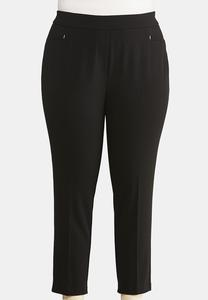 Plus Size Slim Ankle Pants