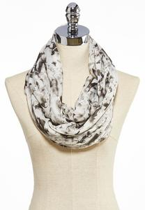 Floral Bloom Sequined Scarf
