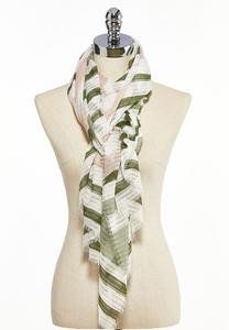 Shadow Stripe Oblong Scarf