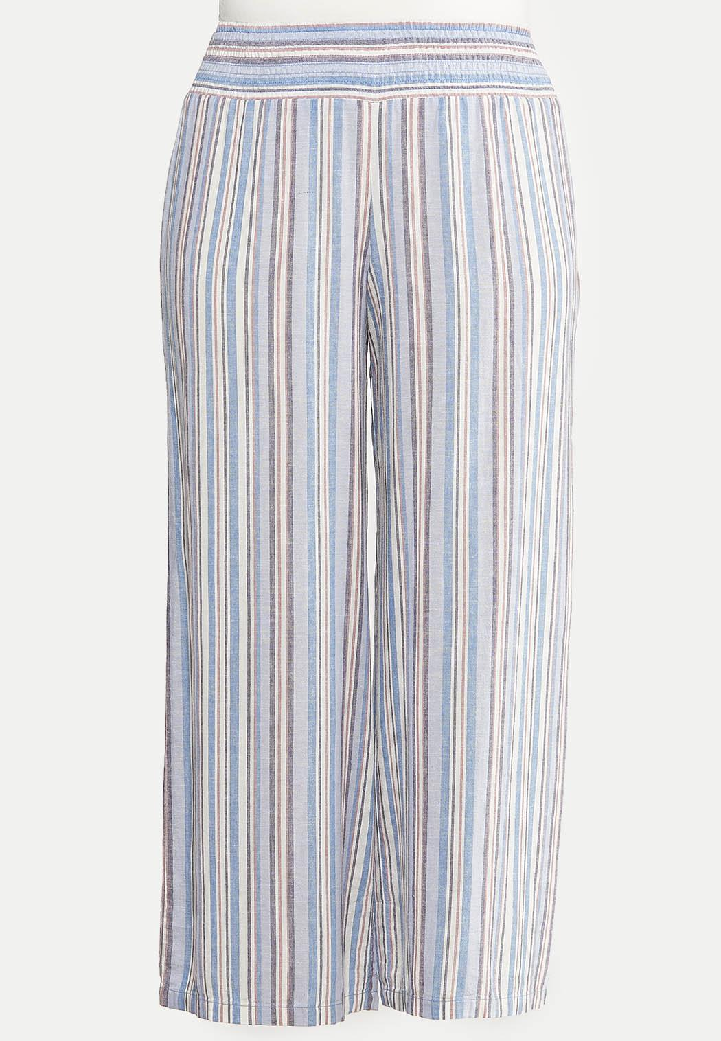 Plus Size Blue Linen Pants