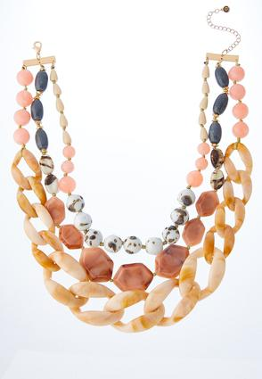 Multi Resin Link Necklace