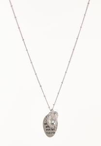 Silver Inspirational Charm  Necklace