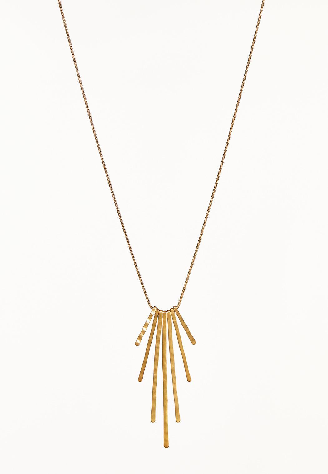 Hammered Stick Necklace