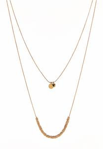 Layered Gold Wrapped Necklace