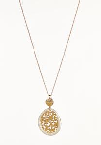 Filigree Circle Pendant Necklace