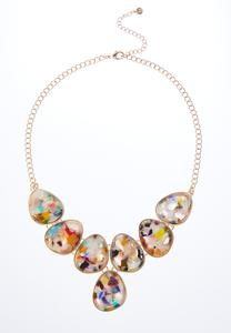Rainbow Lucite Necklace