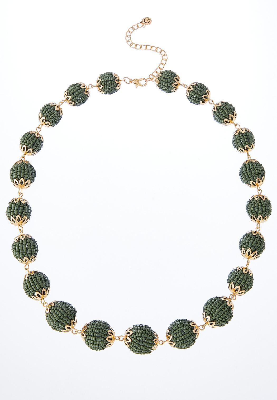 Circles Of Seed Beads Necklace
