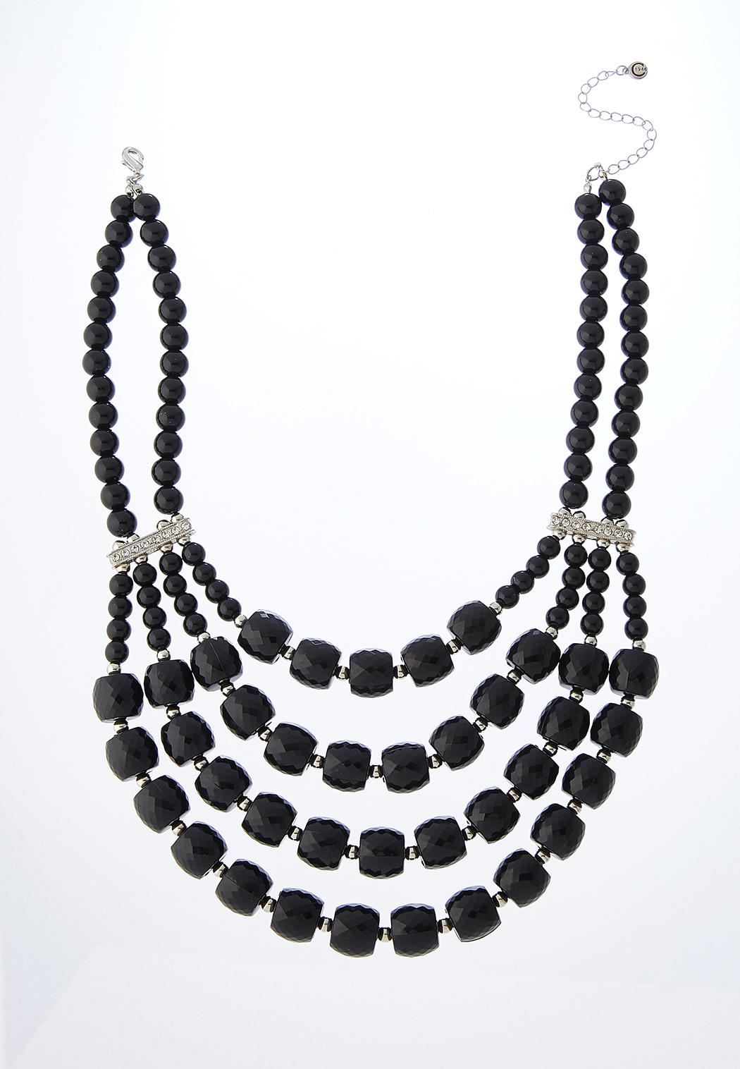 Midnight Acrylic Bib Necklace