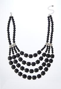 Midnight Acrylic Bib Necklace
