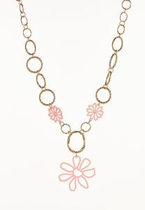 Enamel Flower Y-Necklace