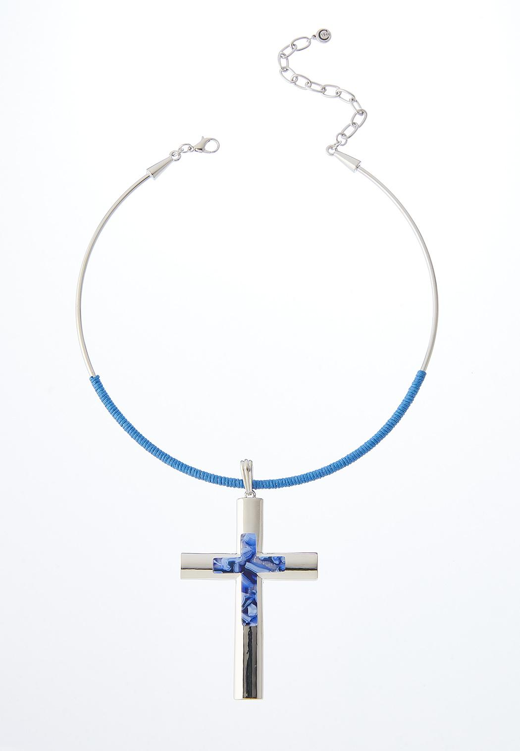 Cross Wire Pendant Necklace