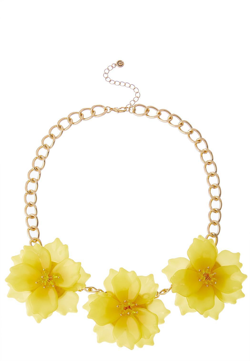 Pink Petal Bib Necklace