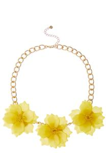 Pink Petal Bib Necklace