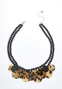 Lucite Disc Bib Necklace