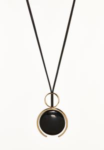 Circle Duo Cord Necklace