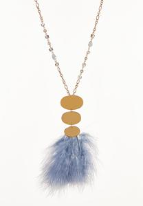 Wispy Feather Pendant Necklace