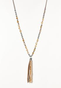 Mixed Tassel Necklace