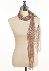 Open Weave Metallic Oblong Scarf