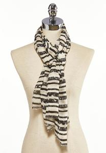 Striped Snake Oblong Scarf
