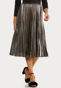 Metallic Pleated Party Skirt