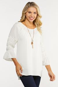 Plus Size Smocked Poet Top