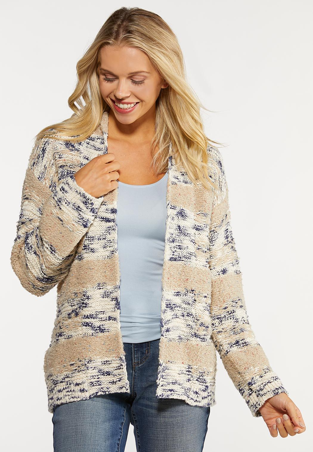 Plus Size Neutral Navy Cardigan Sweater