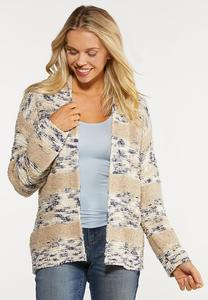 Plus Size Neutral Cardigan Sweater