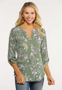Printed Pullover Top