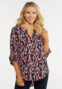 Plus Size Printed Pullover Top