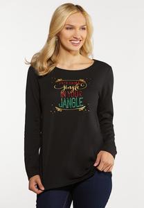 Plus Size Jingle Jangle Festive Tee