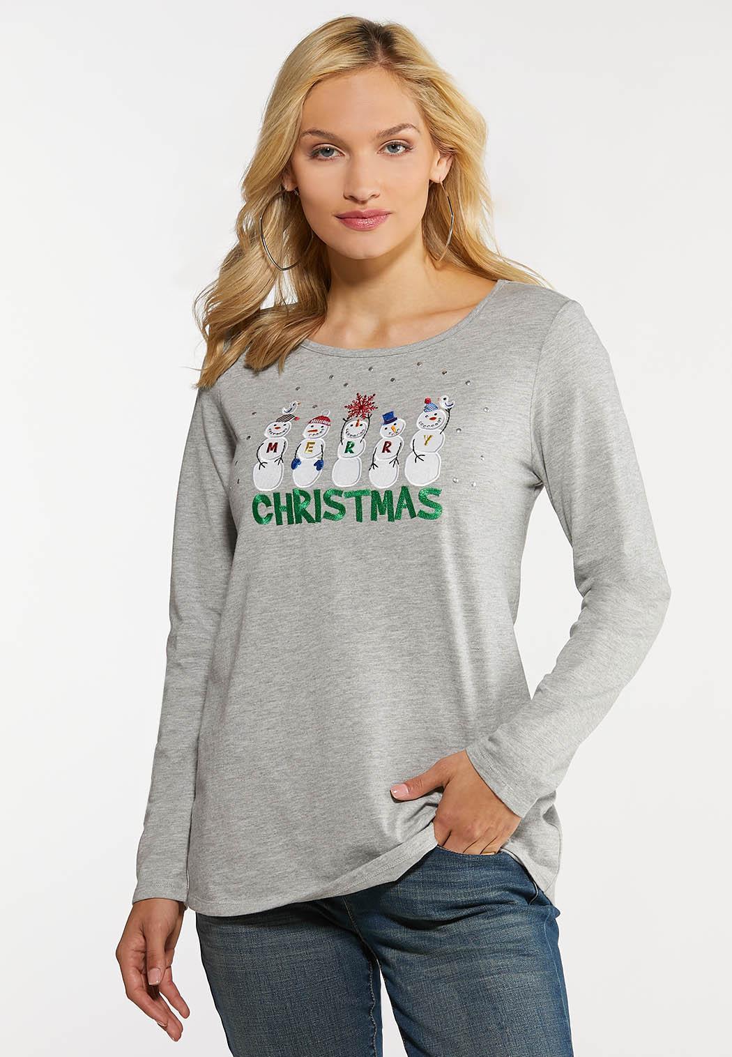 Plus Size Snowman Christmas Tee