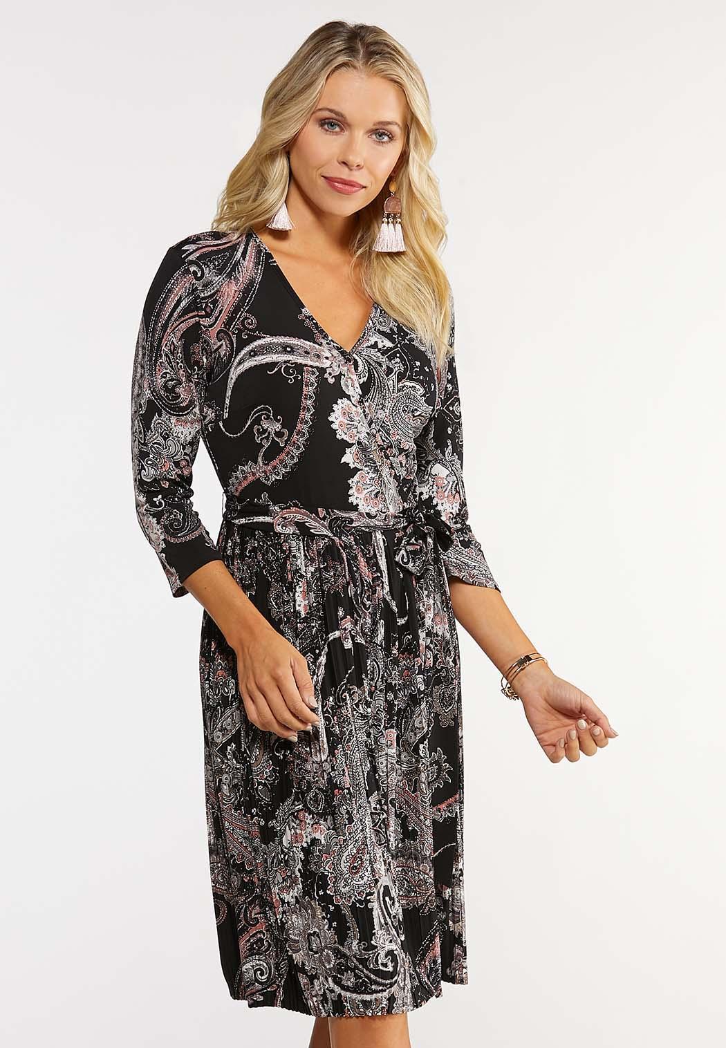 Plus Size Paisley Wrap Dress Dresses Cato Fashions