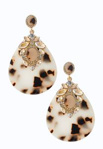 Dazzling Lucite Tear Shaped Earrings