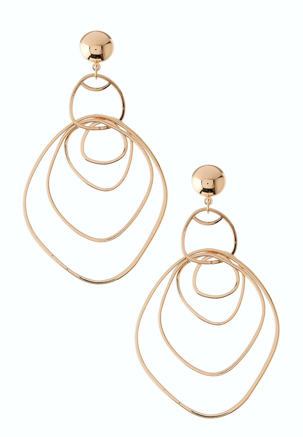 Abstract Gold Statement Earring