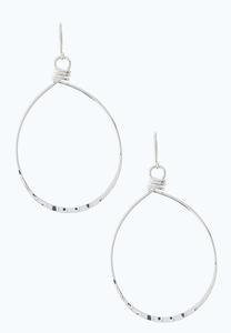 Twisted Metal Oval Earrings