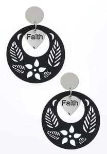 Laser Cut Faith Earrings