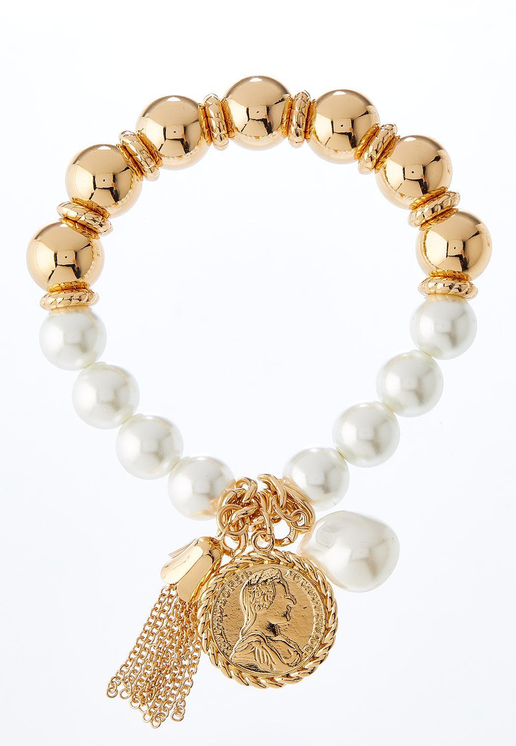 Coin Tassel Stretch Bracelet