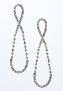 Sparkly Infinity Earrings