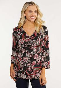 Plus Size Paisley Ring Top